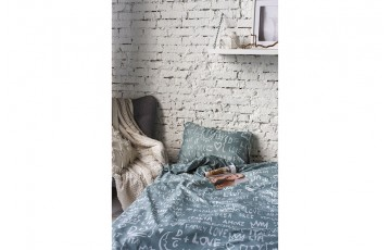 Комплект 1.5-спальный AMI Love Grey