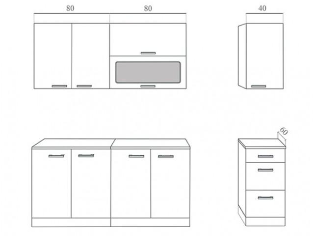 Кухня «Бэлла-1» (МДФ П) по цене