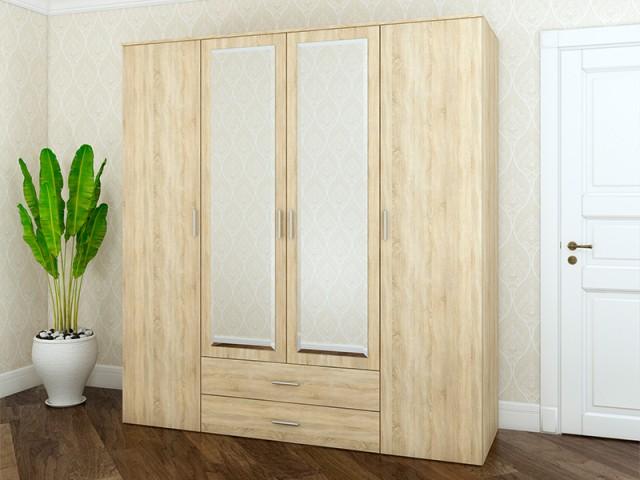 Шкаф «Ривьера» 4Д/2Ш  по цене